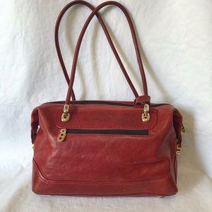 Marino Orlandi Red Leather Satchel Handbag